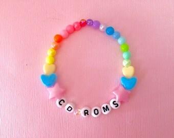 CD Roms Kawaii Kandi Singular Bracelet