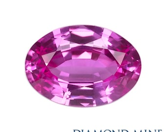 A Beautiful NaturalSapphire 1.17 Pink Oval Extra