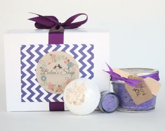 Lavender 3pc Gift set//Maid of honor Gift//Brides maids Gift