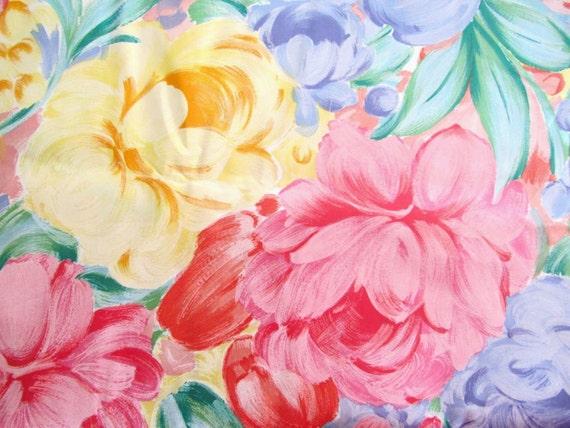 Knockout Large Packed Flowers Glazed Or Polished Cotton