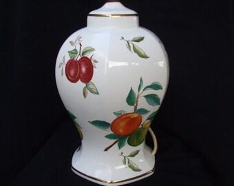 Vintage Aynsley Table Lamp in Georgian Fruit Pattern, Fine English Bone China