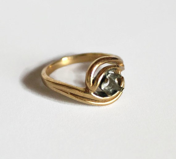 1960s Vintage Engagement Ring Setting 14K Yellow Gold Ring