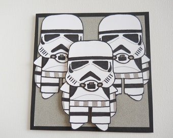 Stormtrooper Card, Star Wars Card, Star Wars Birthday Card, Stormtrooper Art, Star Wars Art, Star Wars Decor, Stormtrooper