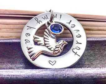 Memorial Necklace, Forever In My Heart, Bereavement Gift, Loss of a Loved One, Bereavement Gift, Memento