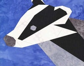 Badger- A Foundation Paper Pieced Woodland Quilt Pattern- 12 Inch