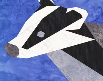 Badger- A 12 Inch Foundation Paper Pieced Pattern