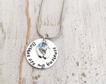 Doula Gift - Midwife Gift - Nurses Gift - Birth Photographer Gift - Nurses Necklace - Doula Jewelry - Midwifery - Babies are my Business