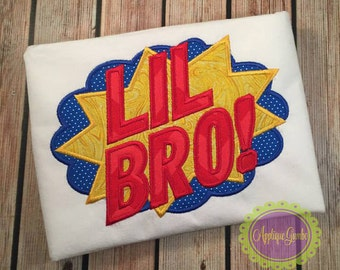 Little/Big Brother Super Hero Burst Shirt/Bodysuit