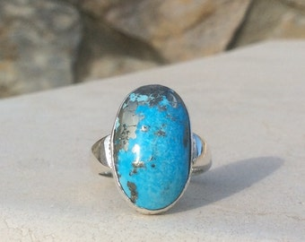 Private Listing for Ruth: Turquoise Silver Ring, Oval Stone Ring, Gemstone Ring, December Birthstone Ring, Statement Ring, Turquoise Ring