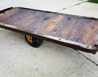 Vintage Industrial Cart // Coffee Table