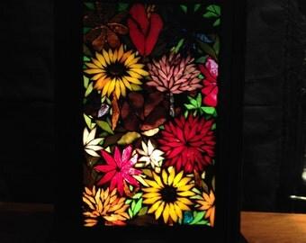 To order. 35 cm tall tiffany glass mosaic Lantern
