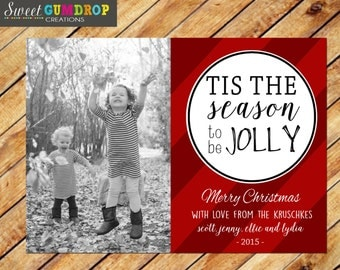 Christmas Card Style 25 - Jolly - Printable