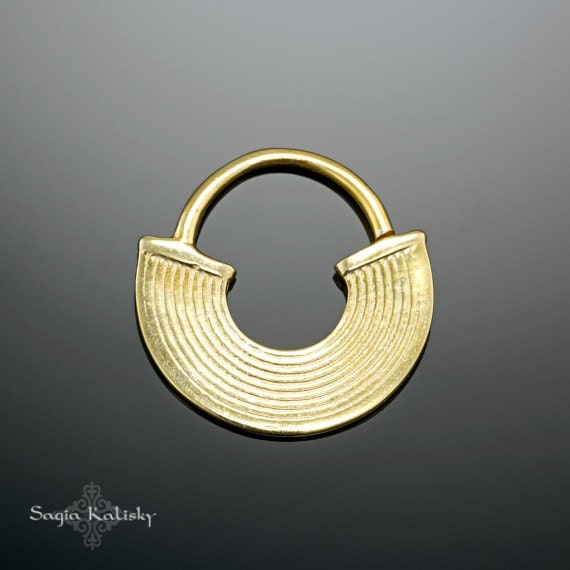 tribal septum gold septum ring 16g septum ring 18g septum