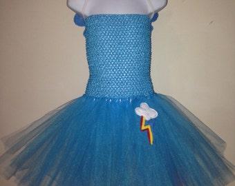 My little pony Rainbow dash inspired tutu dress/tutu costume