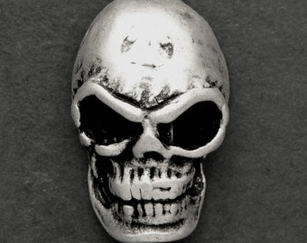 24mm Metal Skull Button with Shank by 2 pcs, TR-11144