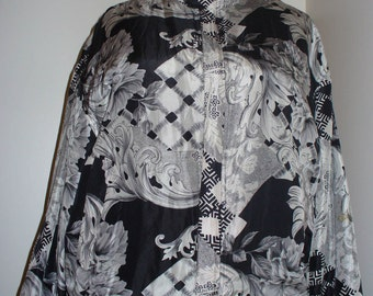 Floral/Baroque Windbreaker Jacket