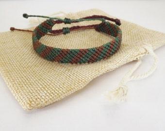 Handmade Bracelet - Green & Brown