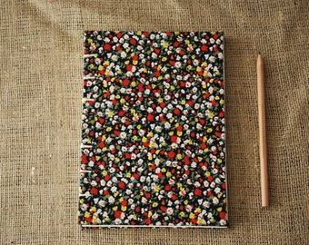Fabric Journal (A5), Cartridge paper, Lined paper, Hardback journal