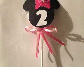 Minnie / Mickey lollipops