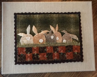 """Wool applique  pattern called """"Carrot Patch"""""""