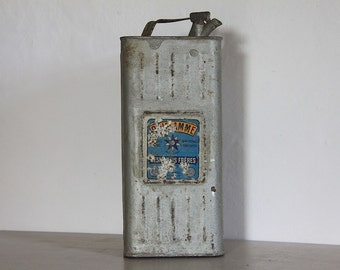 French Vintage Motor Oil Can