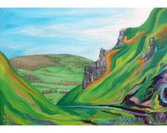 Original Painting, Winnats Pass II