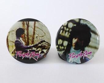 Prince Purple Rain Pin, 80s Vintage Pop Music Button, Prince Music, 1980s Pin, Prince Badge