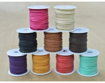 "Deerskin Lace Spool 1/8"" x 50' Leather lacing CHOOSE COLOR"