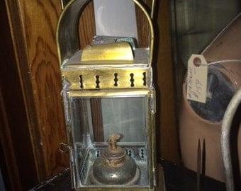 Vintage, Antique, Brass, Coach, Lantern, Works Great
