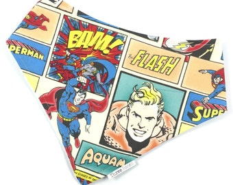 DC Comic Superhero Bandana Bib Baby Toddler Waterproof Dribble Bib