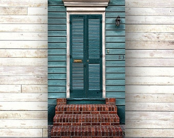 New Orleans Art-BRICK STOOP-French Quarter Doors- Architecture-Door Photography-Cottages-Birch Box Panel-Canvas Print-Historic-Nola-Porch