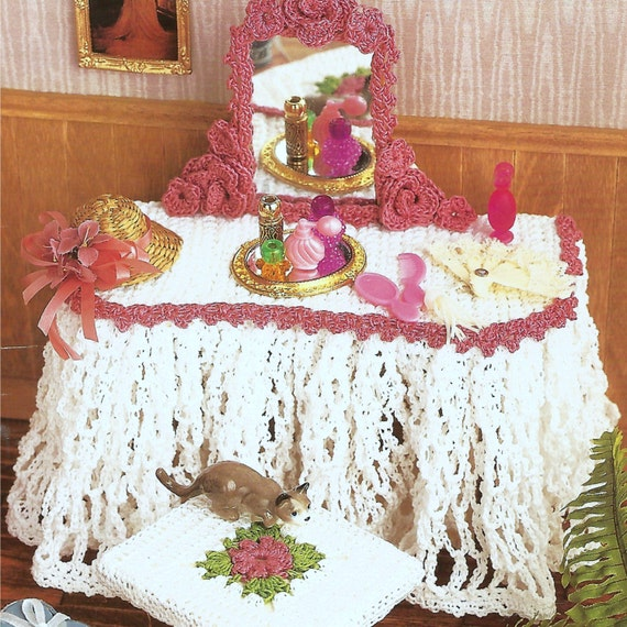 Vintage Crochet Pattern PDF Fashion Doll Home Decor Barbie