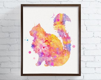 Ragdoll Art - Ragdoll Watercolor - Ragdoll Print - Watercolor Cat - Cat Art Print - Cat Decor, Cat Lover Gift, Cat Painting, Cat Wall Decor
