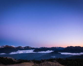 Olympic Peninsula Photograph, Washington Landscape Photograph, 8x10 Wall Decor, Pacific Northwest Photo, Blue Mountain, Port Angeles