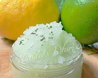 Lemon Sugar Lip Scrub - Citrus -100% natural & vegan - 2 in 1 scrub and balm - summer lemonade - edible lip scrub -  - exfoliate and hydrate