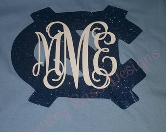 Monogrammed UNC Tarheel shirt