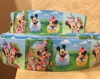 5 YDS Mickey Minnie Easter Egg Hunt Ribbon