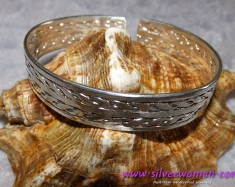 HEAVY & LARGE Sterling Silver CUFF: Handmade, solid 925