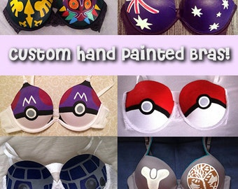 Custom Hand-Painted Bras!