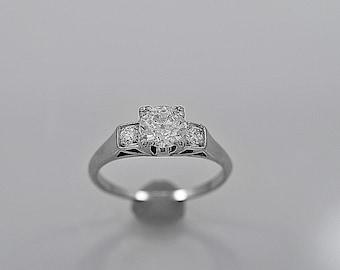 Antique Engagement Ring .75ct. Diamond & Platinum Art Deco - J35609