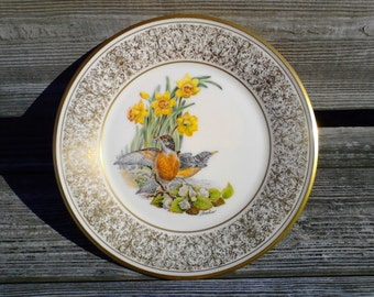 Vintage China, LENOX limited edition plate 'Robin' Vintage China