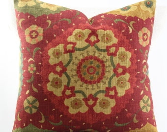 Suzani pillow cover,accent pillow,decorative pillow,accent pillow,lumbar pillow,same fabric on both sides.