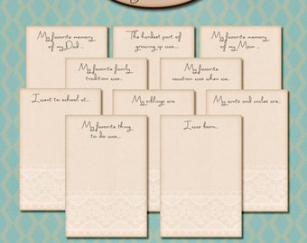 Digital Scrapbooking: Journailing Prompt Cards, In My Day I