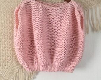 Chunky knit crop top, handmade crop top, bohemian crop top, boho crop top, hipster crochet crop top, 1960's crop top, free people style crop