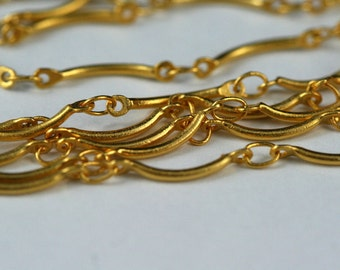1 mt 3,3 feet 10 x 1 mm gold plated brass soldered chain 690