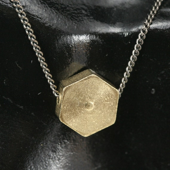 "raw brass stamping hexagonal 20 pcs 10 x 10 x 3.5 mm 3/8"" x 3/8"" x 1/8""  finding hexagonal industrial design"