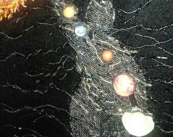 Solar System Goddess Beaded Painting