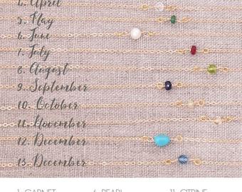 Dainty Birthstone Bracelet / Simple Birthstone Bracelet / Delicate Birthstone Bracelet / Precious/SemiPrecious Gems / Layering Bracelet
