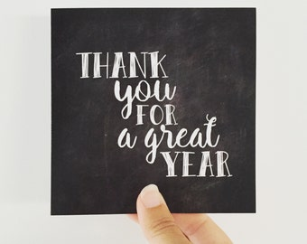 Thank You Teacher Card {GREAT YEAR}