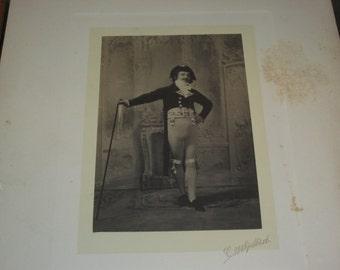 Costumed Frederich Delano Weekes Cabinet Portrait